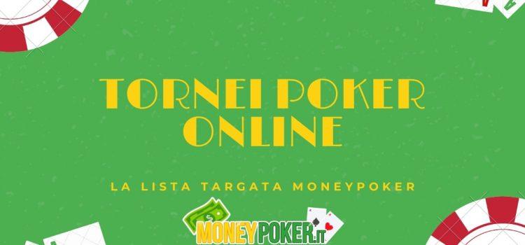 Il calendario dei migliori tornei poker online oggi